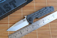Jufule OEM 0620CF Folding Knife titanium carbon fiber handle Copper washer hunting camp Pocket Survival EDC Tool D2 blade knives