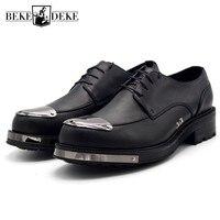 Одежда высшего качества кожаная обувь Для мужчин на увеличивающей рост платформе Дерби ручной работы Повседневное Для мужчин s официальная