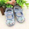 2016 Nuevas Zapatillas de deporte Zapatos Inferiores Suaves Infantiles Zapatos Florales Zapatos Del Otoño Del Resorte Suave Infantil Primer Caminante Del Bebé Calza El Envío Libre