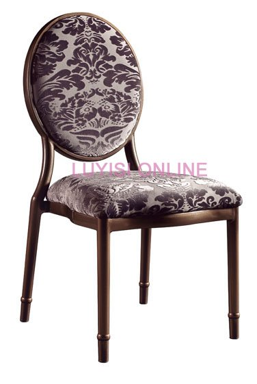 Stacking Aluminum Rounded Back Banquet Chair  LUYISI3801