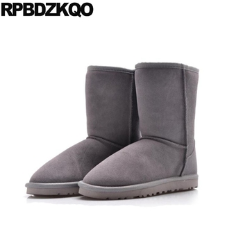 flat shoes plus size designer casual slip on booties ankle mens winter boots warm non australian faux fur snowboot snow suede