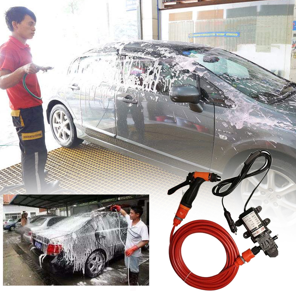 12V Car Wash Washing Machine Cleaning Electric Pump Pressure Washer with towel for mazda ...