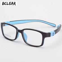 BCLEAR Gafas de silicona TR90 para niños, gafas de protección flexibles para niños, gafas de dioptrías de goma, montura de gafas para niños, niño y niña