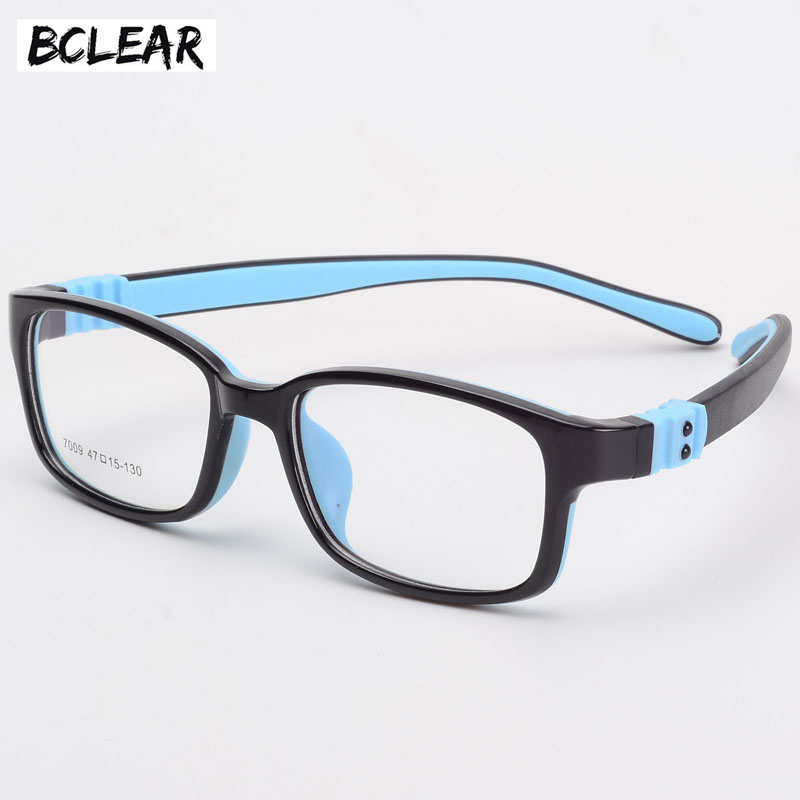 BCLEAR TR90 Silicone Glasses Children Flexible Protective Kids Glasses Diopter Eyeglasses Rubber Child Spectacle Frame Boy Girl