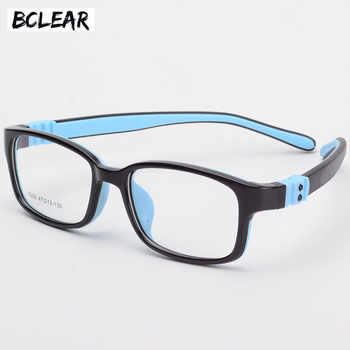 BCLEAR TR90 Silicone Glasses Children Flexible Protective Kids Glasses Diopter Eyeglasses Rubber Child Spectacle Frame Boy Girl - DISCOUNT ITEM  46% OFF All Category