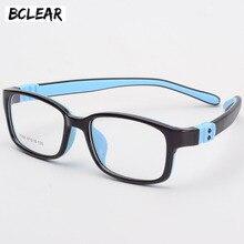 BCLEAR TR90 silikon gözlük çocuk esnek koruyucu çocuklar gözlük diyopt gözlük kauçuk çocuk gözlük çerçevesi erkek kız