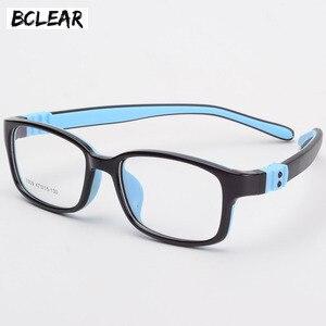 Image 1 - Bclear tr90 실리콘 안경 어린이 유연한 보호 어린이 안경 디옵터 안경 고무 어린이 스펙타클 프레임 소년 소녀