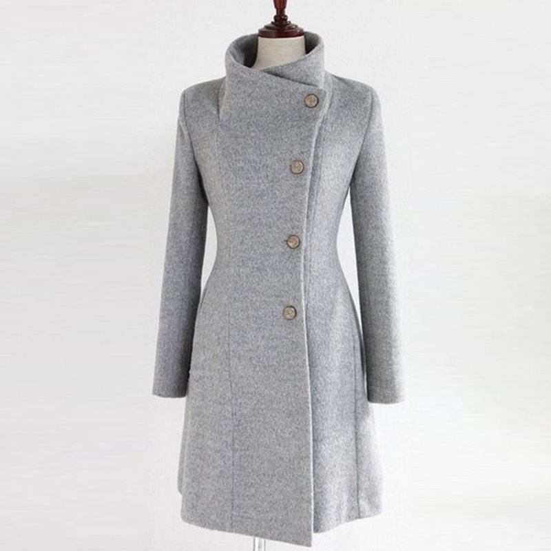Casual Office Ladies Vintage Black Winter Women Long   Trench   Coats Slim Button Pocket Bowknot Autumn Female Retro Outwears 2019