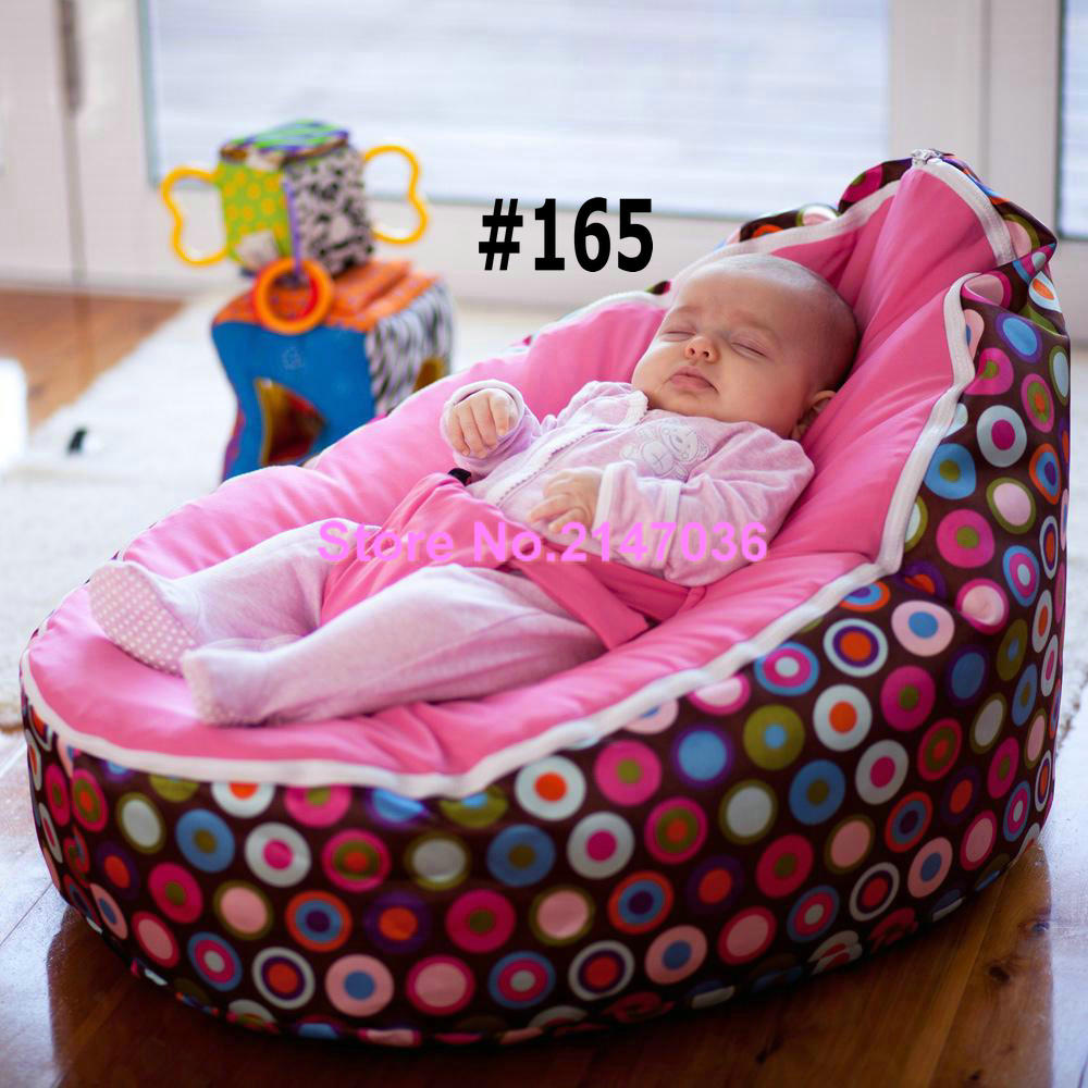 Excellent Quality Smooth Comfortable Baby Bean Bag Chair Discojelly 2 Upper  Top Covers Baby Seat Kids Portable New Beds In Living Room Sofas From  Furniture ...