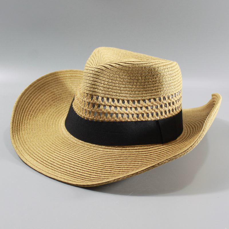 Male large size panama hats big head man foldable cowboy fedora cap men plus size straw hat 58CM 60CM 62CM(China)