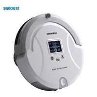 Automatic Robotic Vacuum Cleaner With LCD Screen Two Rolling Brush And Vacuum Carpet Cleaner Seebest C561