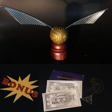 Gold Ball Snitch Action Toy Metal and Plastic Retro Original Version Limited Supply for HP Fans(China)