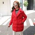Mujeres Abrigo de invierno 2016 Nueva Moda de Invierno Mujeres de la Chaqueta 90% de Pato Blanco Abajo Chaqueta Caliente Abajo Parka de esquí de Nieve Parka