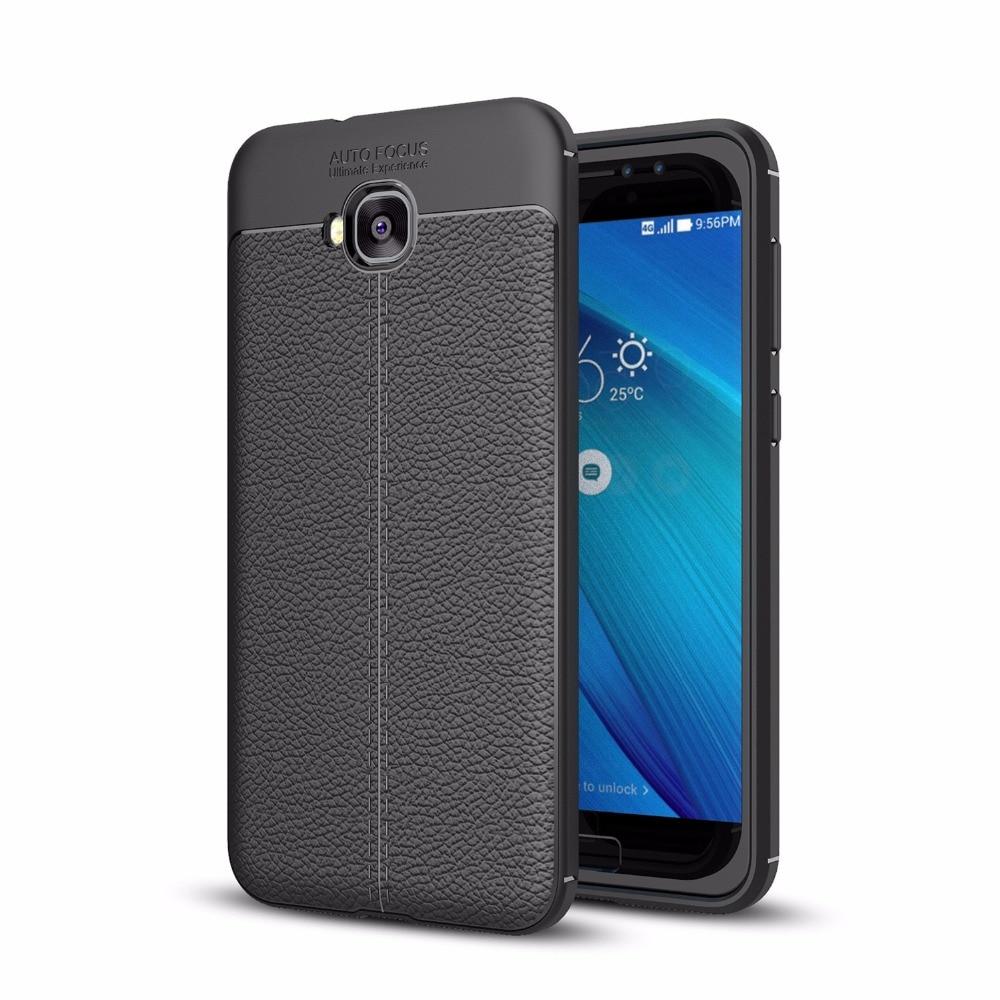 Для ASUS Zenfone 4 селфи ZD553KL ZB553KL ультра тонкий искусственная кожа чехол Гибкая ТПУ Резиновая силиконовые защитные покрытия