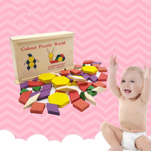 New Childrens Wooden Blocks Toy 3D Magnetic Building Early Educational Toys Birthday Gift Tangram