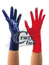 Adult Fashion Sexy Women Rubber Fetish Zentai Latex Short Gloves Custom color Latex Fetish Short gloves sex latex free shipping