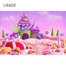 Laeacco Sweet Dreamy Ice Cream Candy Baby Child Cartoon Portrait Scene Photography Background Photographic Photo Studio Backdrop