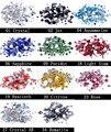 Beleza de Cristal Brilho Strass Strass ss4-ss30 Tamanhos Mistos Sobre 1000 pcs Para 3D Decorações de Unhas Arte Projeto Mochila