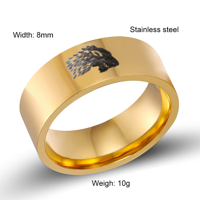 Stainless Steel Men Rings Game of Thrones Jewelry