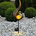 Солнечное Пламя Мерцающая садовая лампа фонарь IP65 наружные прожекторы ландшафтное украшение Светодиодная лампа для садовых дорожек
