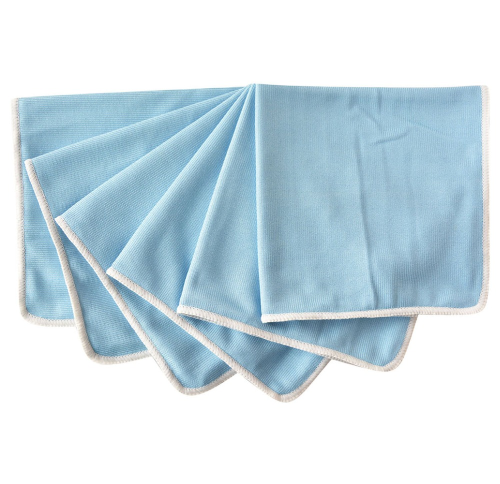 Sinland Microfiber Glass Towel Window Windshield Cleaning  Cloths Eyeglass Towels Fast Drying Durable Glass Taps 16inx12in 6 PCS