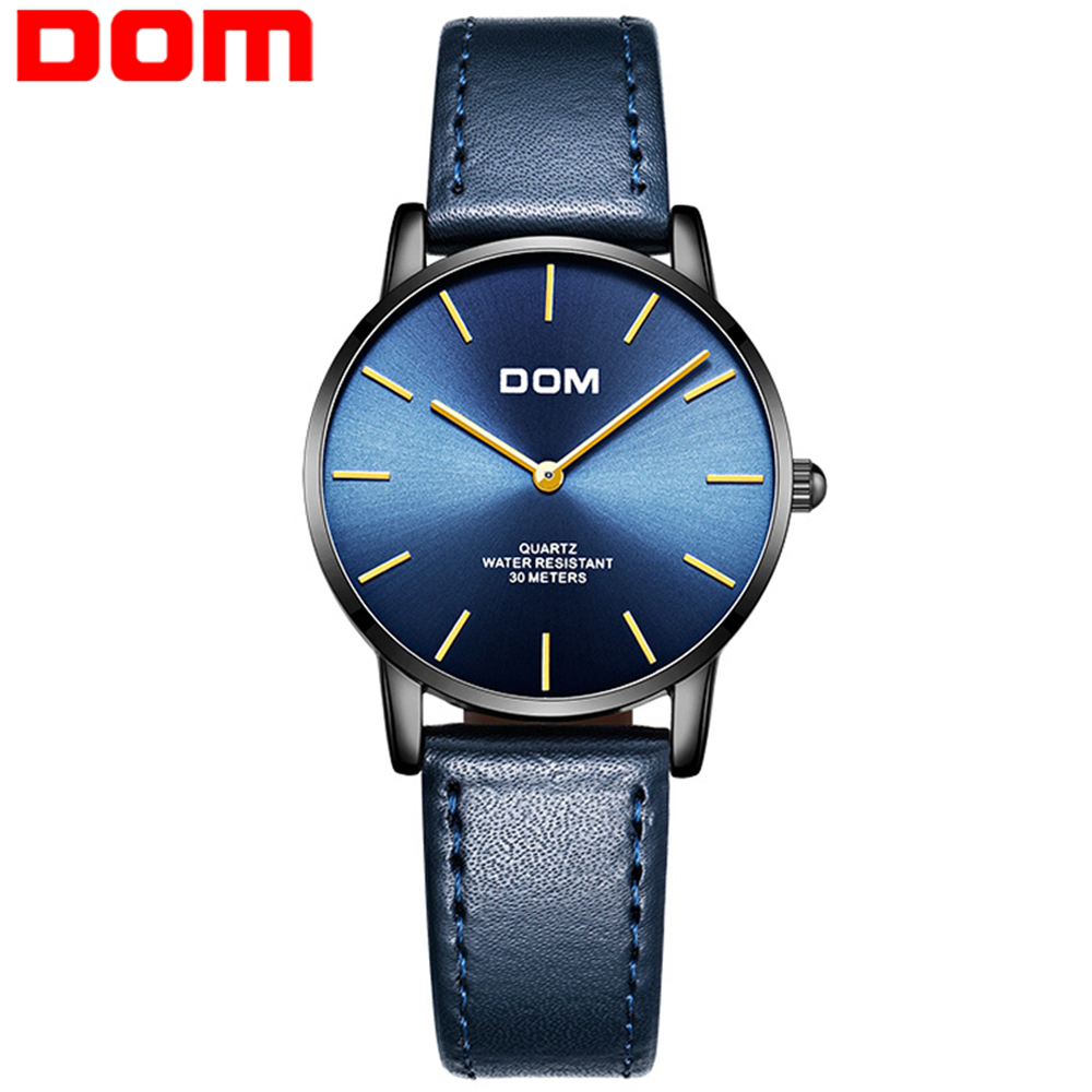 Dom Watches Women Quartz Lady Wrist Watch Dress Women's Watches Brand Luxury Fashion Blue Ladies Wristwatches Relogio Feminino