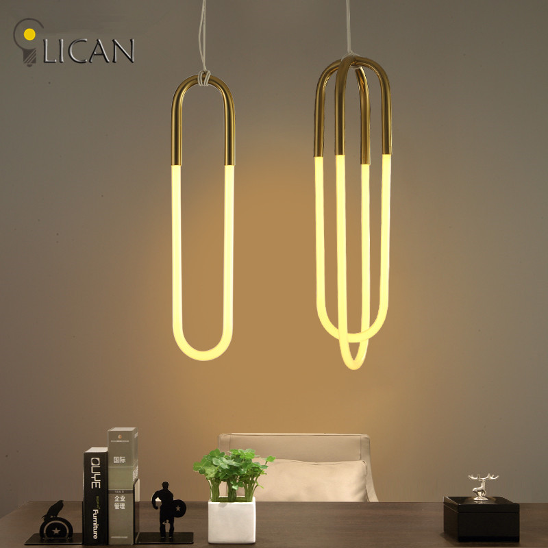 LICAN Loop Rudi Suspension Luminaire pendant lights Nordic Modern Art deco Hanging Lamp Coffee Bar Table Clothes Shop drop Light rudi hilmanto local ecological knowledge