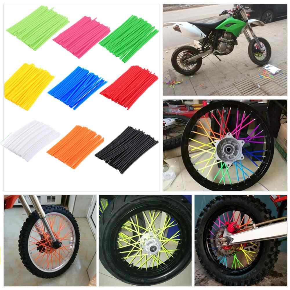 Cubiertas para radios de rueda para motocicleta motocross pit y motocross color Amarillo intenso