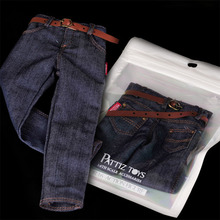 1/6 Soldiers Male Man Classic Trend Printing Hip Hop Jeans Denim Pants For 12 Muscular Mens Boys Body Figure Accessories