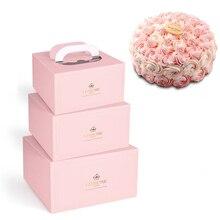 Новая однотонная белая картонная коробка для торта, запеченные упаковочные инструменты, красочная одноразовая коробка для выпечки, ресторана, посылка, коробка для выноса, 10 шт