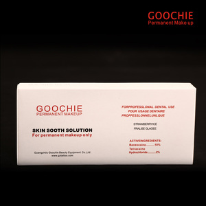 Image 3 - Goochie agente de alongamento de tatuagem, maquiagem permanente de sobrancelhas e lábios, solução suave, agente indolor/fixador de tatuagem