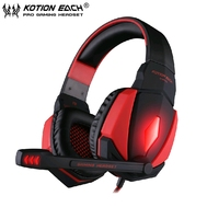 20pcs KOTION EACH G4000 USB Stereo Gaming Headphone With Microphone Volume Control LED Light For PS3