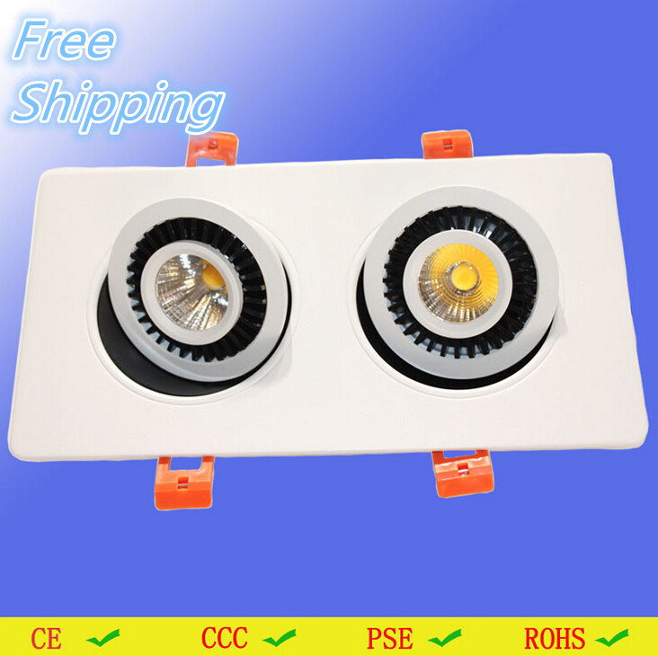 Hot sale 20W White shell warm white/white/ cold white Dimmable COB Recessed led down light 360angle rotating+led driver