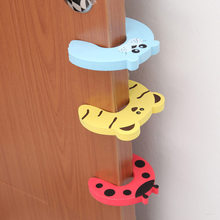 4pcs Baby Safety Cartoon Animal Stop Edge Corner For Children Guards Door Stopper Holder Lock Safety Finger Protector(China)