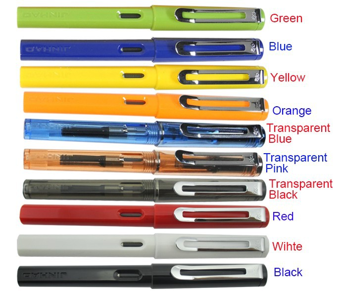 Перьевая ручка Ручка-роллер 10 Цвета на выбор Jinhao 599a стандарт подпись ручка канцелярских бесплатная доставка