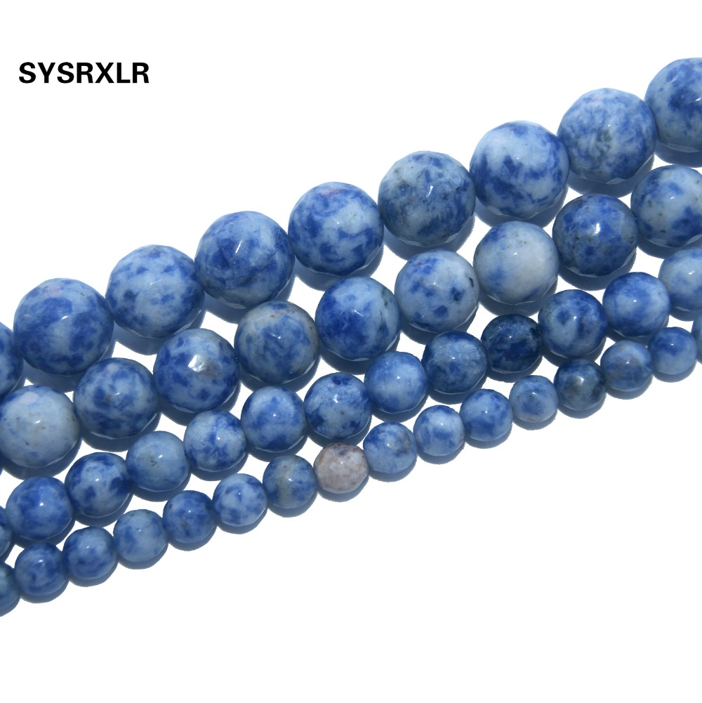 Jewelry & Accessories Amiable Free Shipping Faceted Natural Stone White Dot Blue-vein Sodalite Beads For Jewelry Making Diy Bracelet Material 4/6/8/10/12 Mm Discounts Price Beads