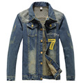 2016 Новый США Дизайн Мужские Джинсы Куртки Американская Армия Стиль мужские Джинсы Одежда Джинсовая Куртка для Мужчин Плюс Размер XXXXL
