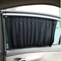 2016 New Arrivel Whoelsale 2 Pcs Set Black Mesh Fabric Car Auto Window Car Stying Covers