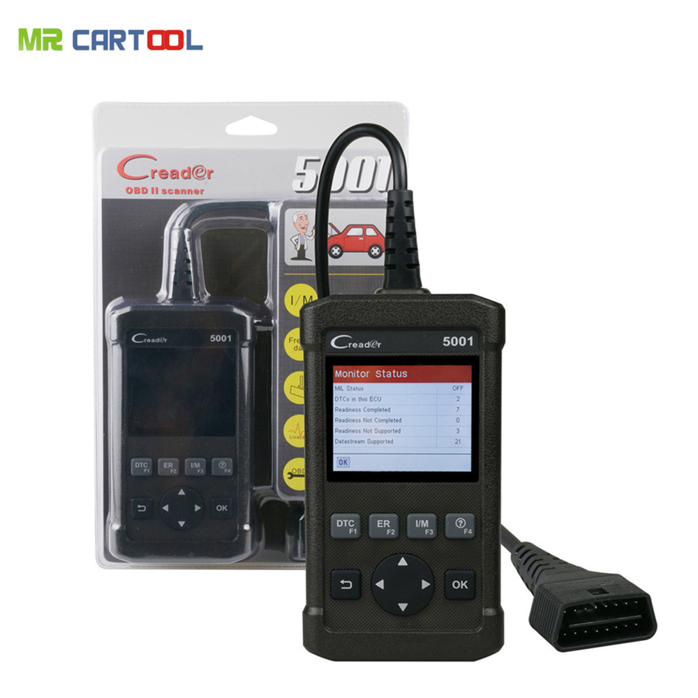 цена Launch CReader 5001 Code Reader OBDII/EOBD Full Functions Diagnostic Tool Code Scanner CR5001