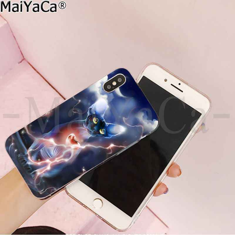 MaiYaCa Hình Tượng Nhân Sư Mèo DIY In Vẽ Điện Thoại Ốp Lưng Dùng Cho Apple iPhone 8 7 6 6S 6S Plus X XS MAX 5 5S SE XR Trường Hợp