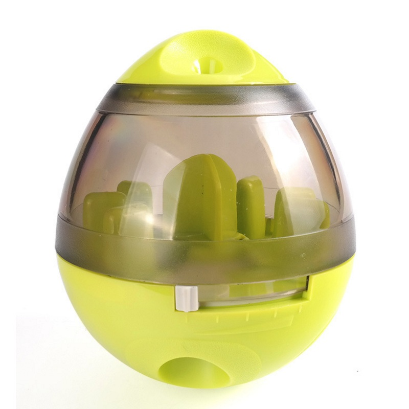 Dog Cat IQ Food Ball Pet Interactive Toy Tumbler Egg Smarter Dogs Playing Treat Ball Puzzle Shaking Food Dispensing Feeder Leak in Dog Feeding from Home Garden