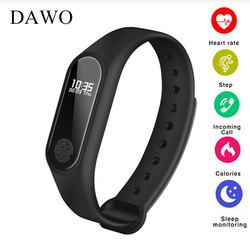 Dawo M2 Фитнес браслет, трекер активности IP67 USB Водонепроницаемый монитор сердечного ритма сна шагомер будильник Smart PK K1 F1 miband 2