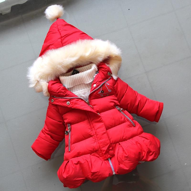 BibiCola winter girls jackaets2018 children fashion cotton hoodie coats girls thicken warm dowm coats kids casual jackaets coats недорого