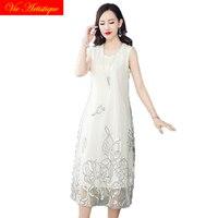 white floral dress women's silk dresses 2018 summer bohemian beach long sundress maxi plus size boho casual loose sexy fairy