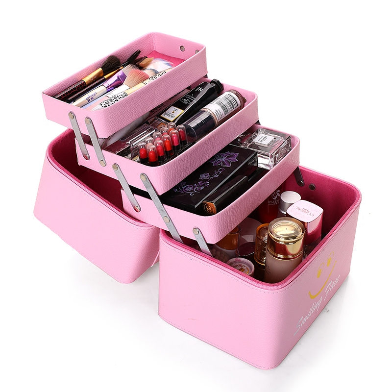 New Fashion Professional Makeup Bag Women Cosmetic Case High Quality Female Korean Makeup Box Large Capacity Travel Wash Bags wholesale high quality travel luggage cosmetic box male and female cosmetic bags on universal wheels multi purpose cosmetic case