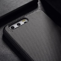 ROCK Carbon Fiber Phone Case For Huawei P10 P10 Plus Back Cover For Huawei P10