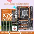 Скидка HUANAN ZHI материнская плата с M.2 слот deluxe X79 LGA2011 материнская плата комплект с Процессор Intel Ксеон E5 2650 V2 Оперативная память 16 Гб (4*4G)