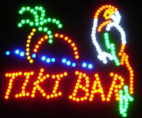 2017 hot sale 19*19 inch indoor Ultra Bright TIKI BAR Home Wall Decor led Neon open sign