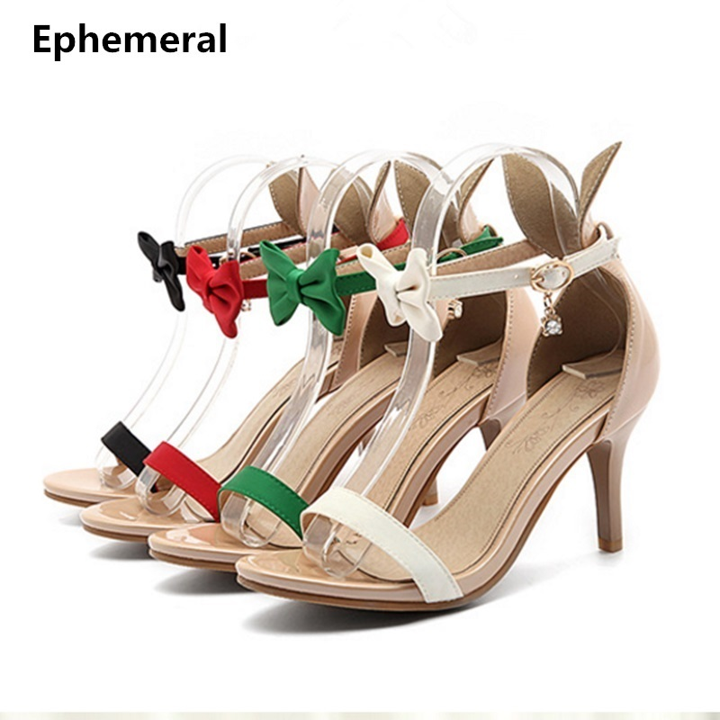 Ladies cover heel sandals with buckle strap party shoes summer plus size 12 13 14 red black green peep toe sandalias high heels ephemeral ladies zip sandals with heels buckle strap open toe summer casual shoes woman spongy insole plus size 11 12 white pink