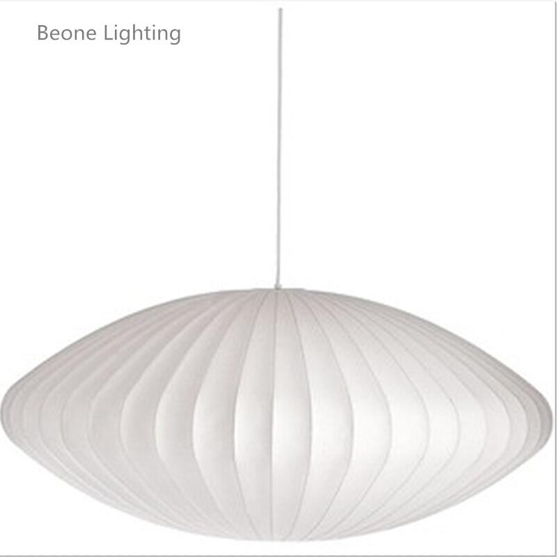 Free Shipping Nelson Bubble Lamp Ball Pendant Light White Replica E27 Silk Pendant Light Pendant Lamp Pendant Lighting